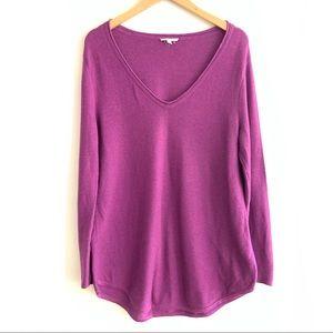 Eileen Fisher 100% Organic Cotton Sweater Purple L
